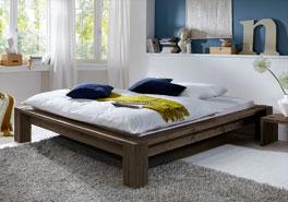 Wildeichenliege Alento ist in gängigen Doppellbett Bettgrößen wie 140x200cm erhältlich
