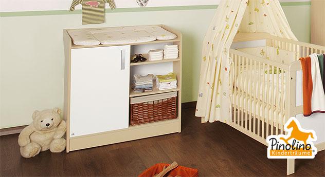 stabile wickelkommode in ahorn und cremewei florian. Black Bedroom Furniture Sets. Home Design Ideas
