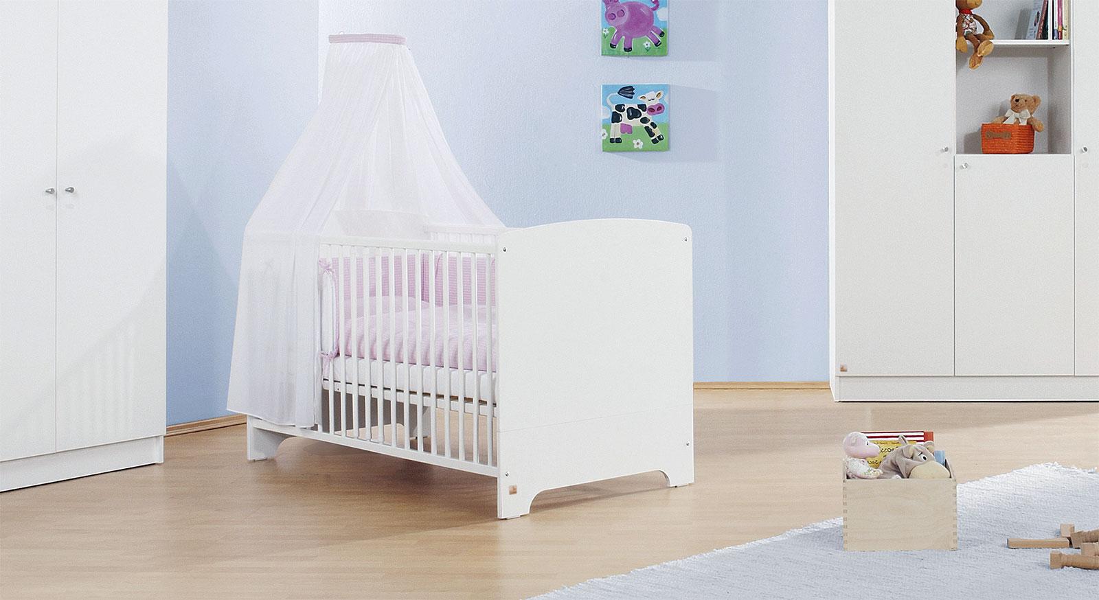 Babybett Weiss In 70x140 Cm Auch Als Kinderbett Jil