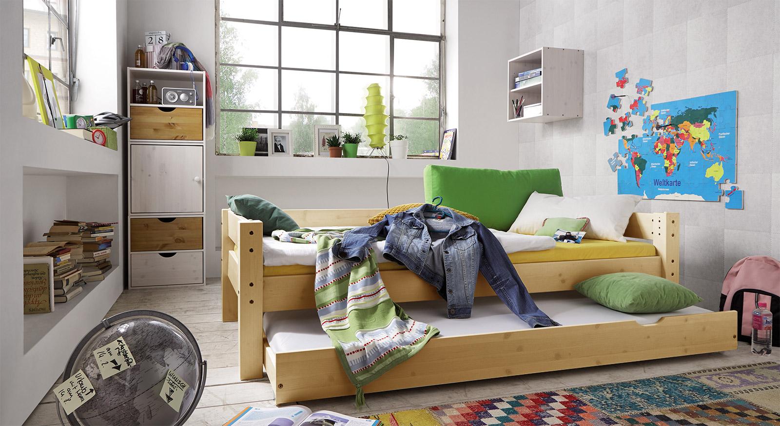 Ausziehbett Kids-Dreams aus Buche natur mit passenden Produkten
