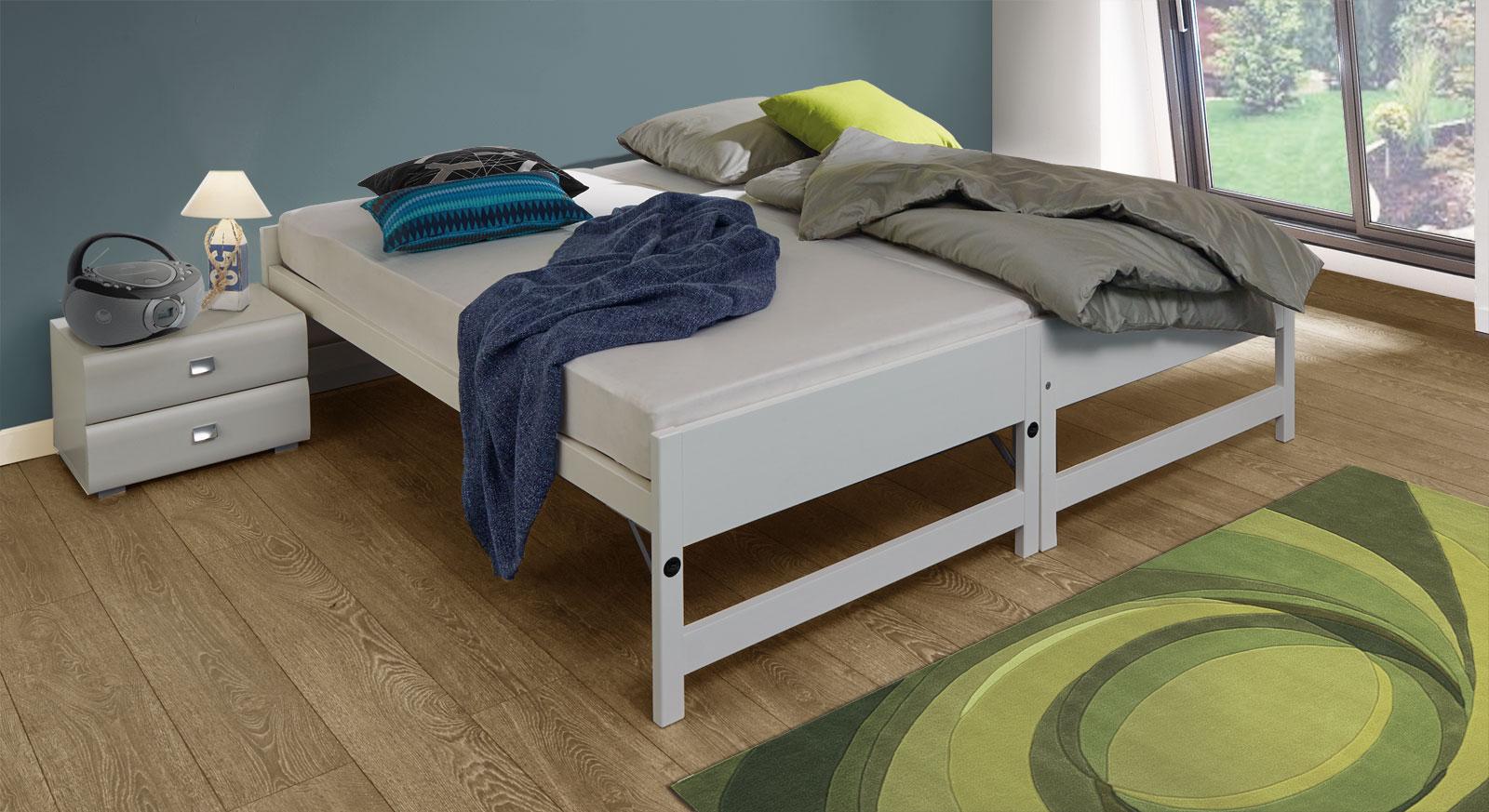 Ausziehbett On Top kann bequem in ein Doppelbett umgewandelt werden