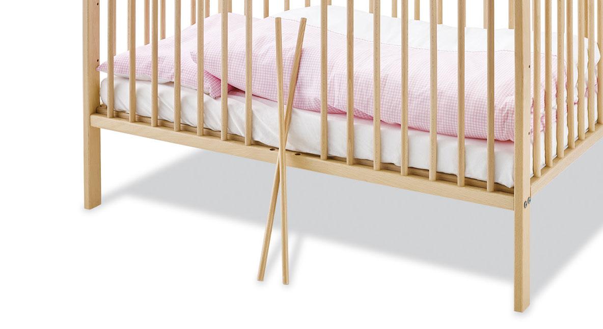 Babybett Hanna inklusive zwei Schlupfsprossen