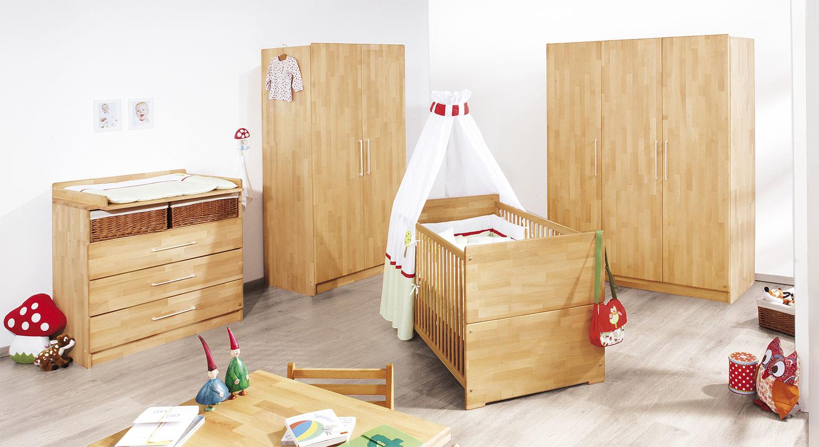 Babyzimmer Natura in Buche geölt