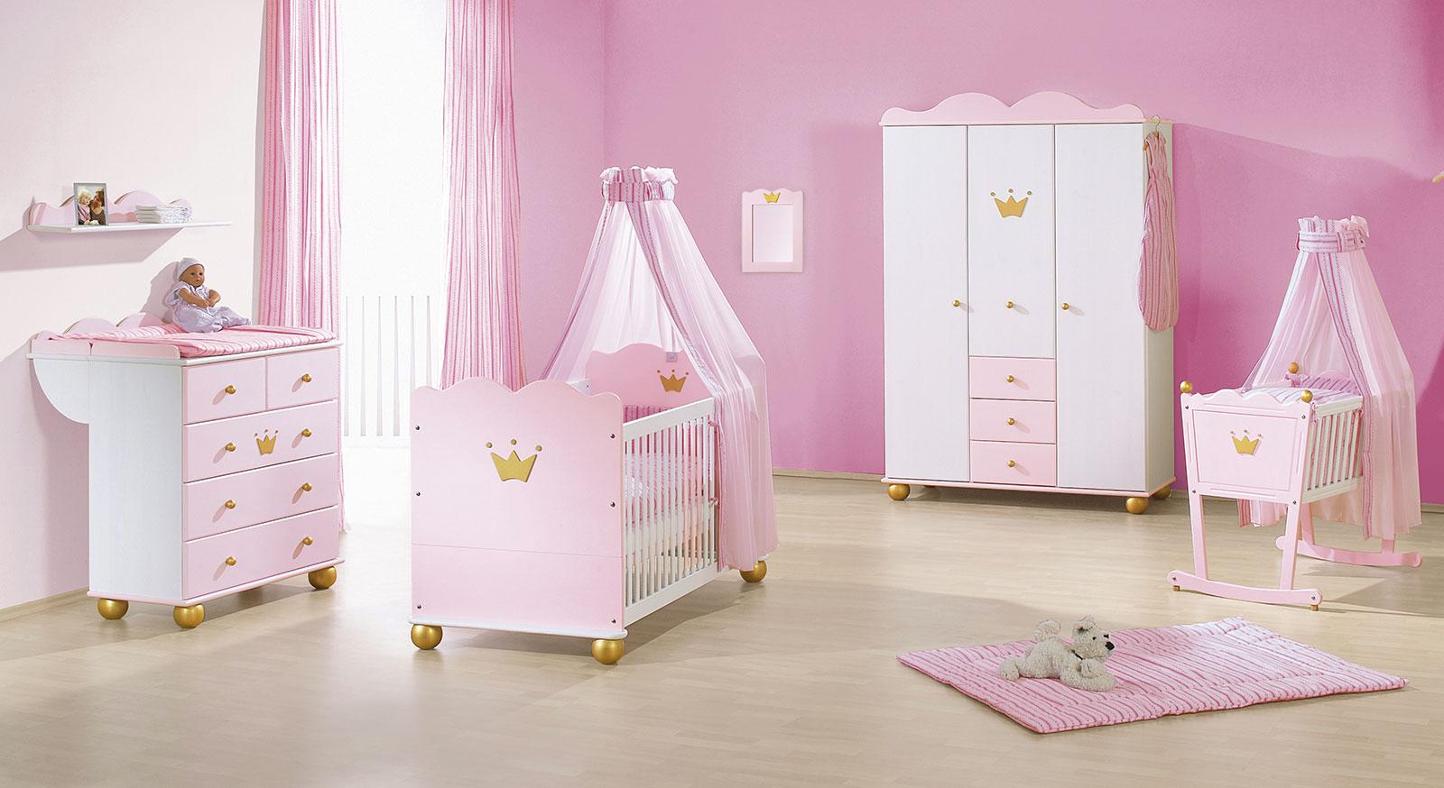 Kinder-Kleiderschrank in Rosa günstig kaufen - Prinzessin Karolin