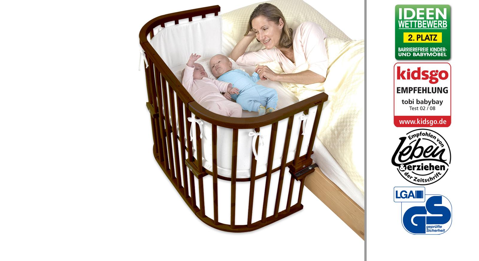 beispielbett auch f r zwillinge geeignet babybay maxi. Black Bedroom Furniture Sets. Home Design Ideas