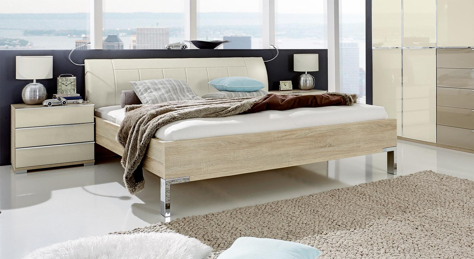 Bett Banga aus Eiche Dekor