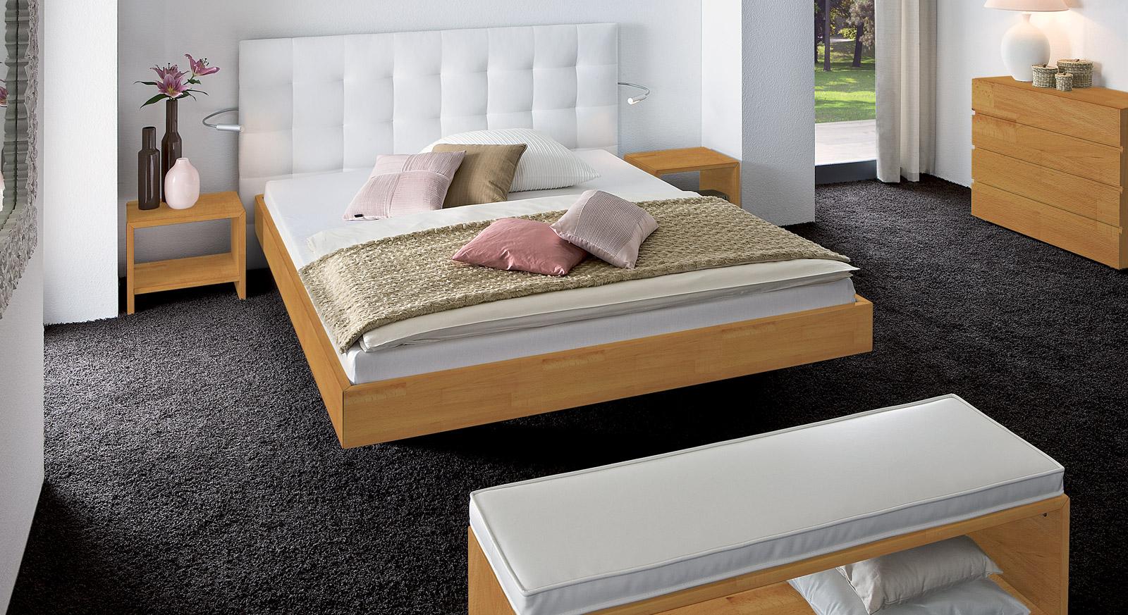 Bett Bianco Deluxe naturfarben