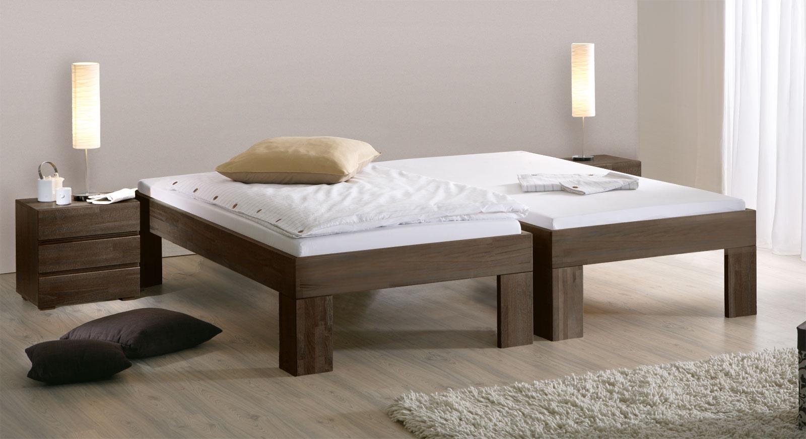 Bett Lucca Komfort mit Fusshöhe 30cm in Wenge
