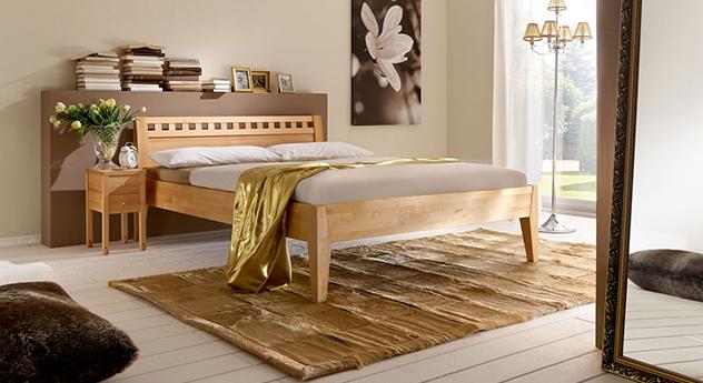 Modernes Bett Wallis mit passendem Produkt