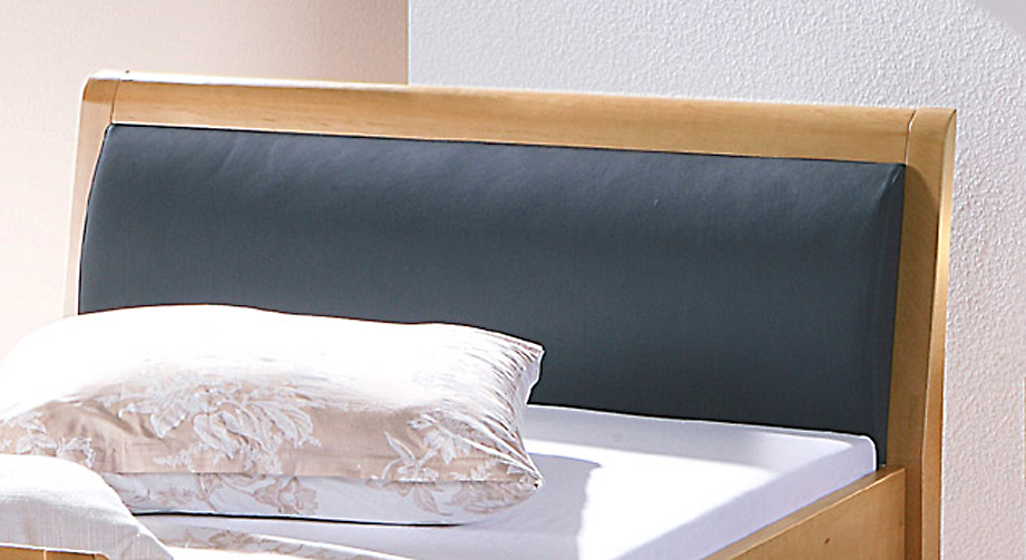 Seniorenbett Cortina mit optionalem Kopfteilpolster schwarz