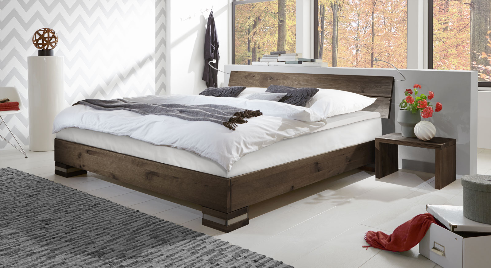Boxspringbett Mexiana in Wildeiche coffee