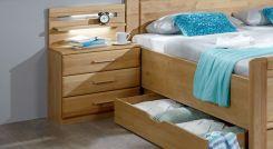 nachtkonsole mit schubladen beleuchtung erle teilmassiv ageo. Black Bedroom Furniture Sets. Home Design Ideas