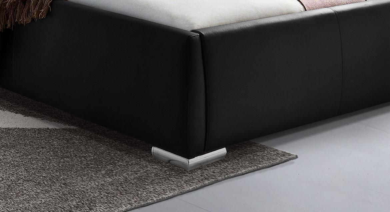 Modernes Doppelbett Lewdown mit Chrom-Füßen