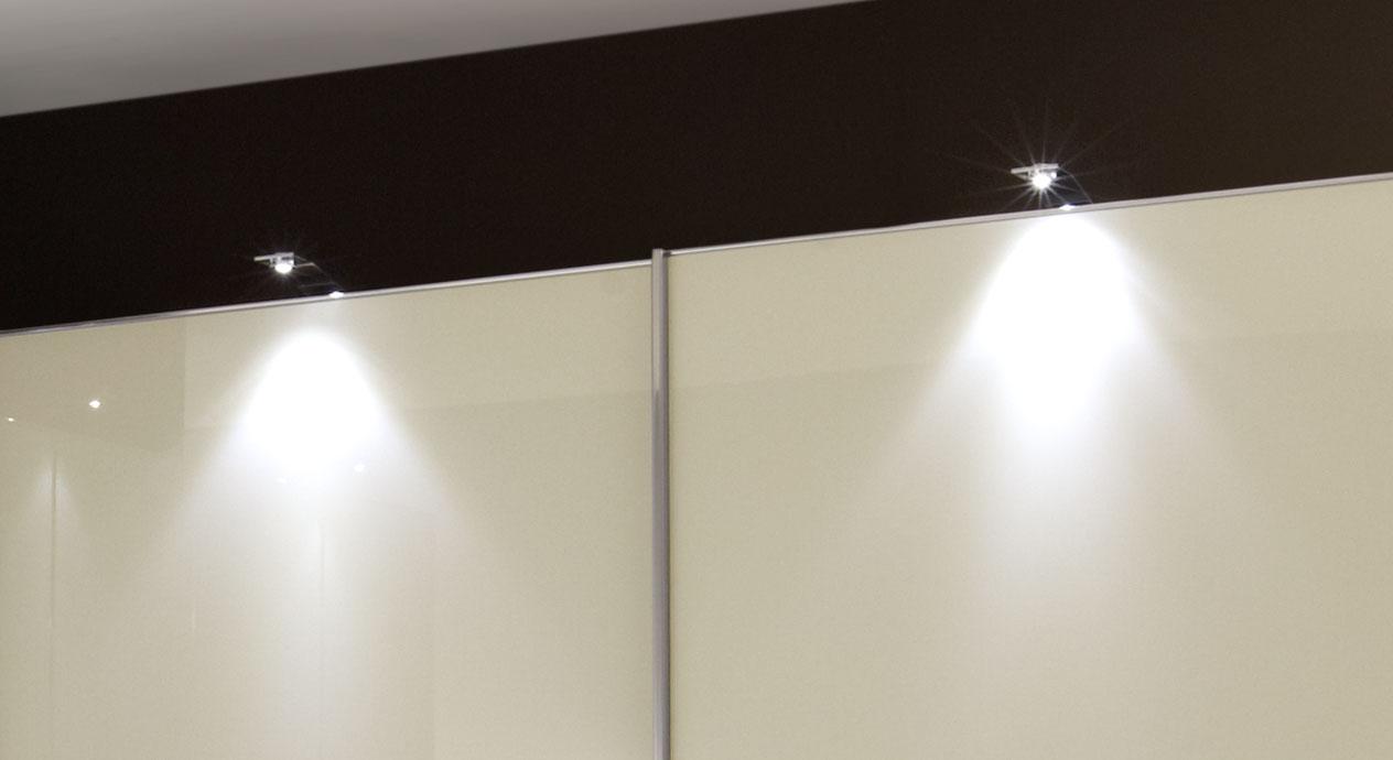 Eck-Kleiderschrank Bangaoptional mit Leuchten zu bestellen