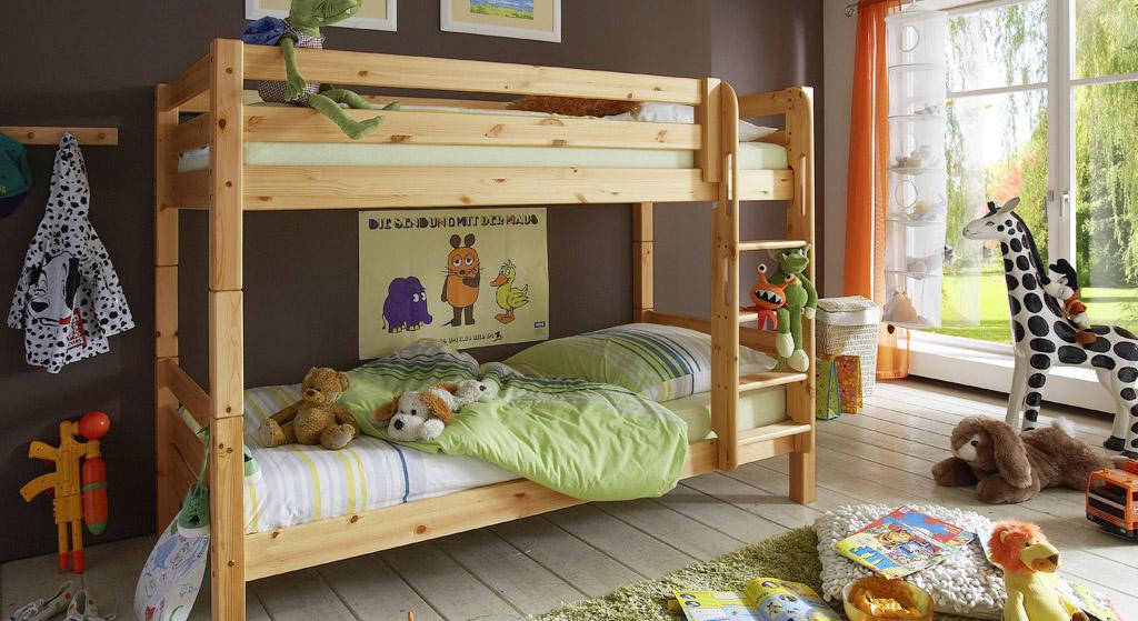 Etagenbett Kids Paradise in Kiefer natur