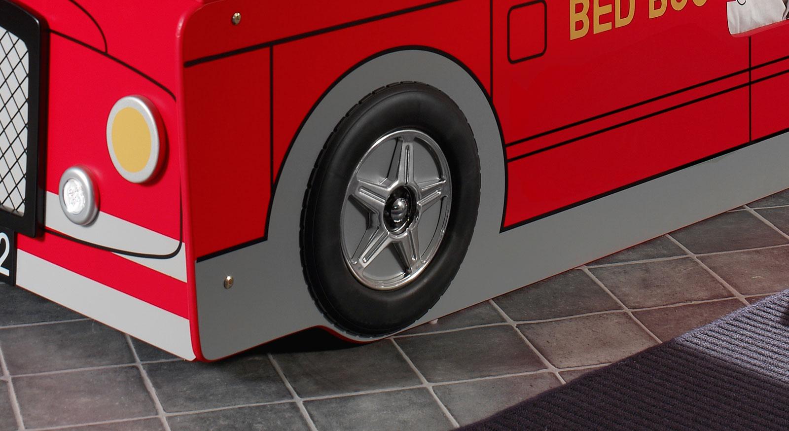 Etagenbett Paddington mit schwarzen Reifen aus Kunststoff