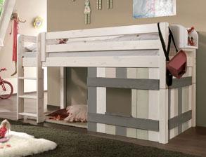 Umbaubares Hütten Hochbett Kids Paradise Laubhütte Aus Holz Vom TÜv Geprüft