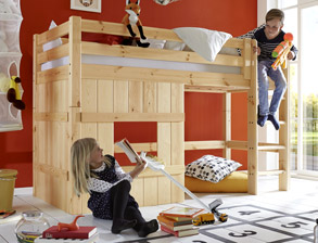 Kinderbetten mit seitenschutz und rausfallschutz - Kinderzimmer echtholz ...