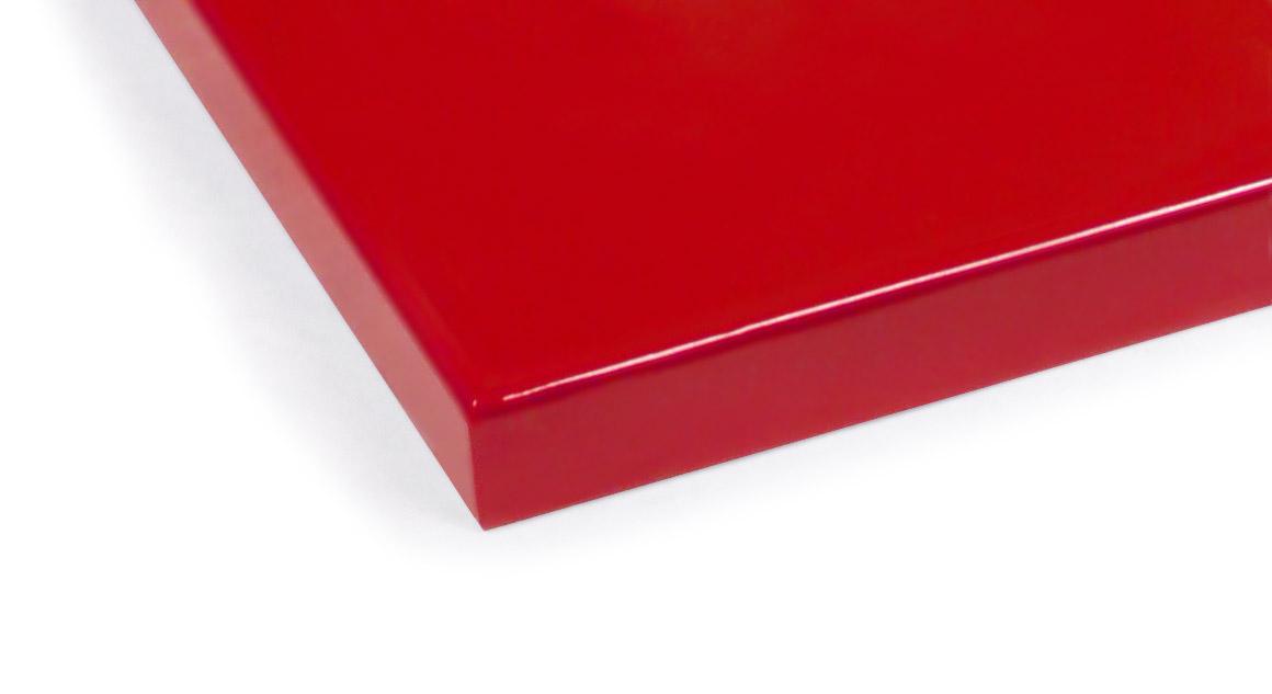 Rotes MDF-Farbmuster für Kinderbetten