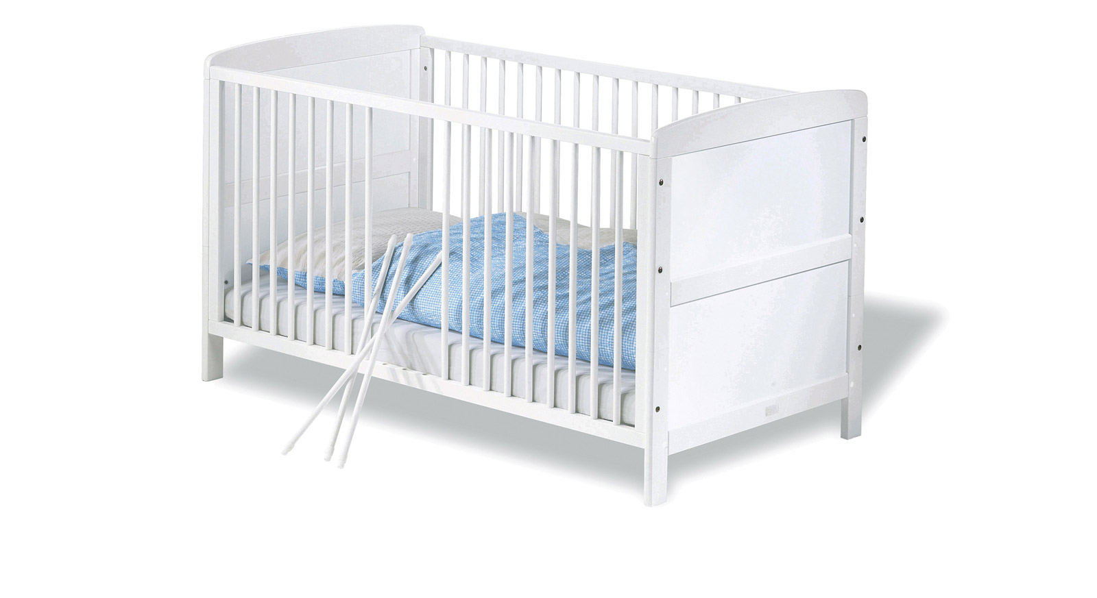 Kinderbett Julia Gitterbett herausnehmbare Schlupfsprossen
