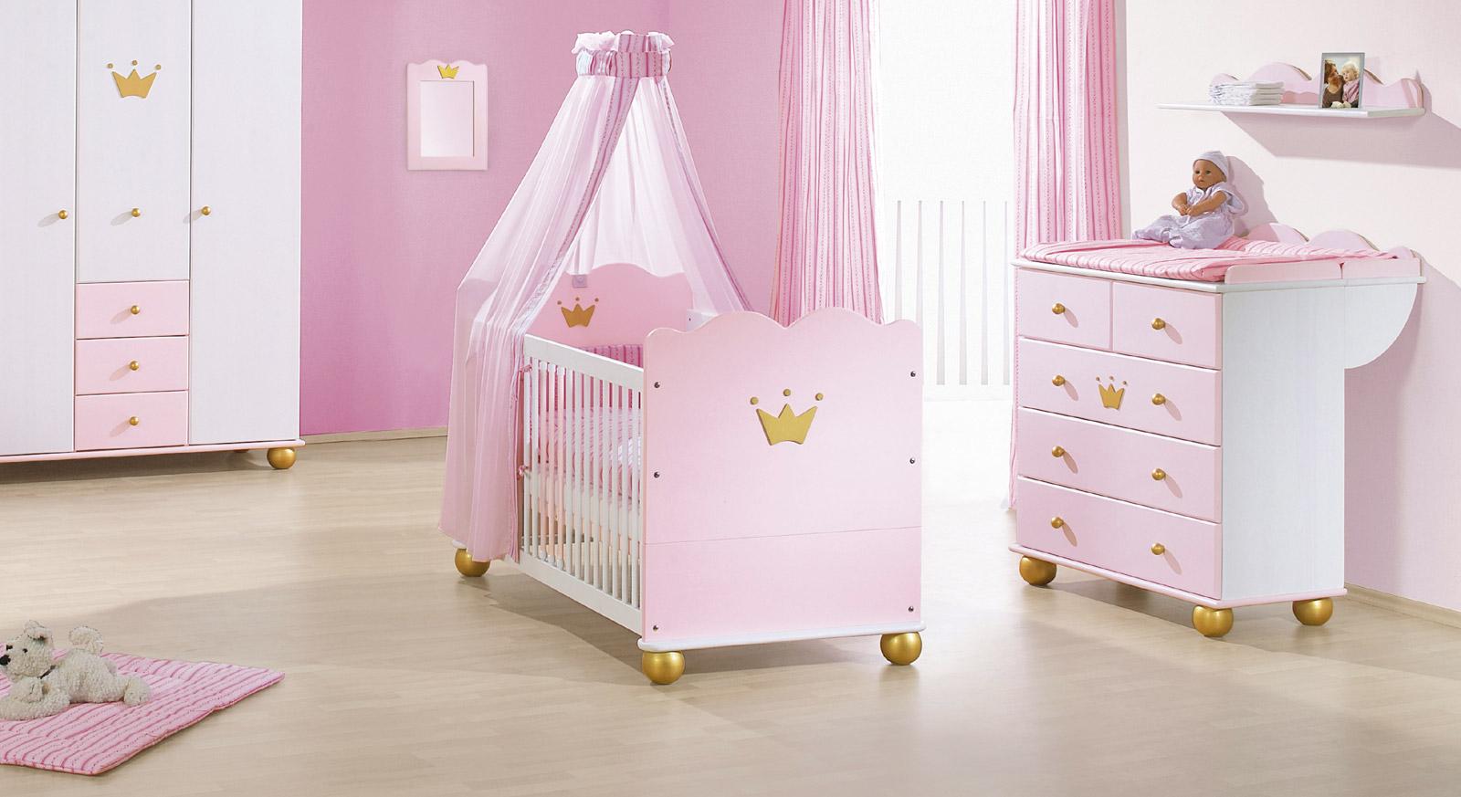 Rosafarbenes Kinderbett aus Fichte - Prinzessin Karolin