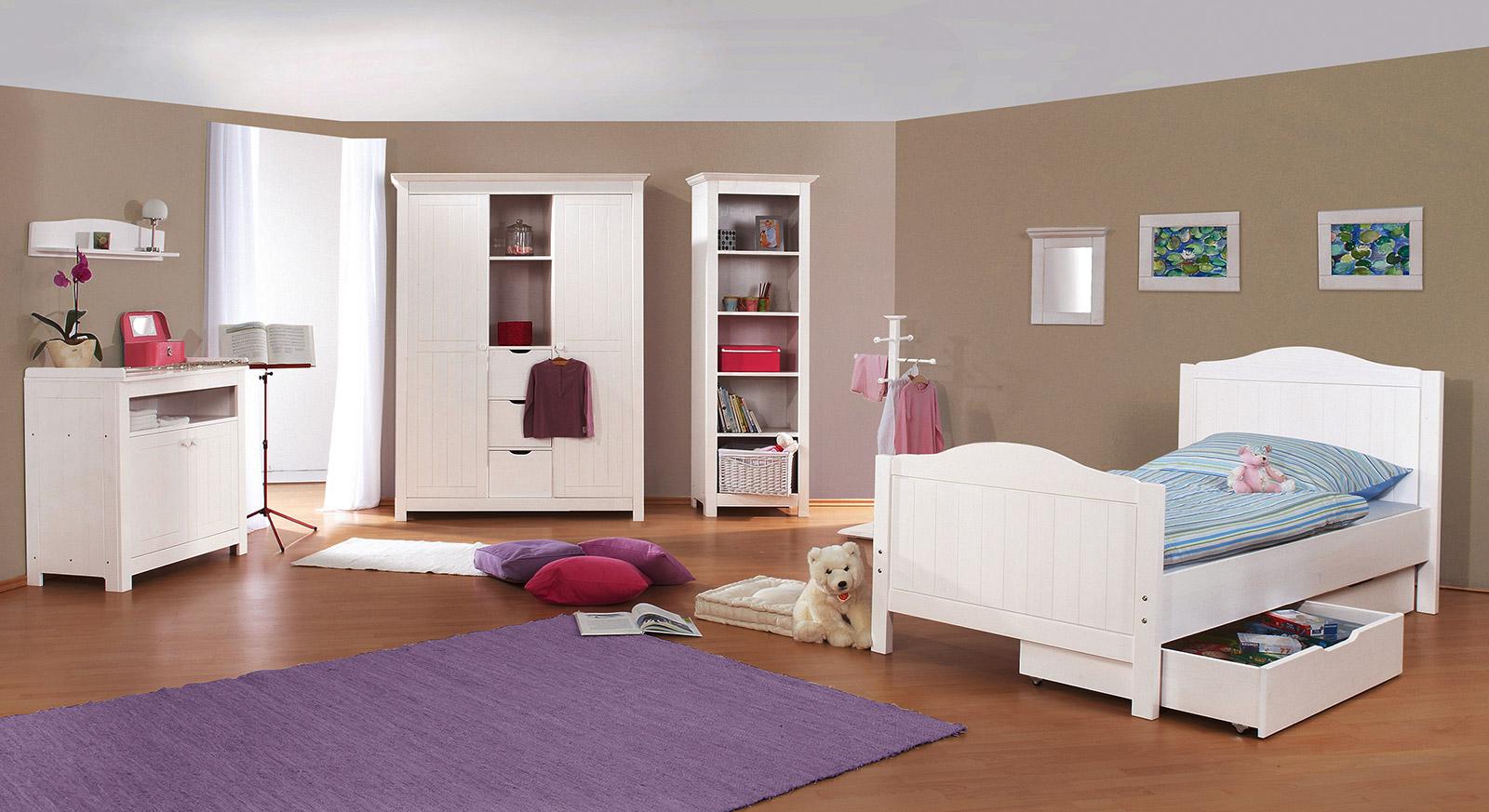 Kleiderschrank fürs Kinderzimmer aus weißer Fichte - Nina