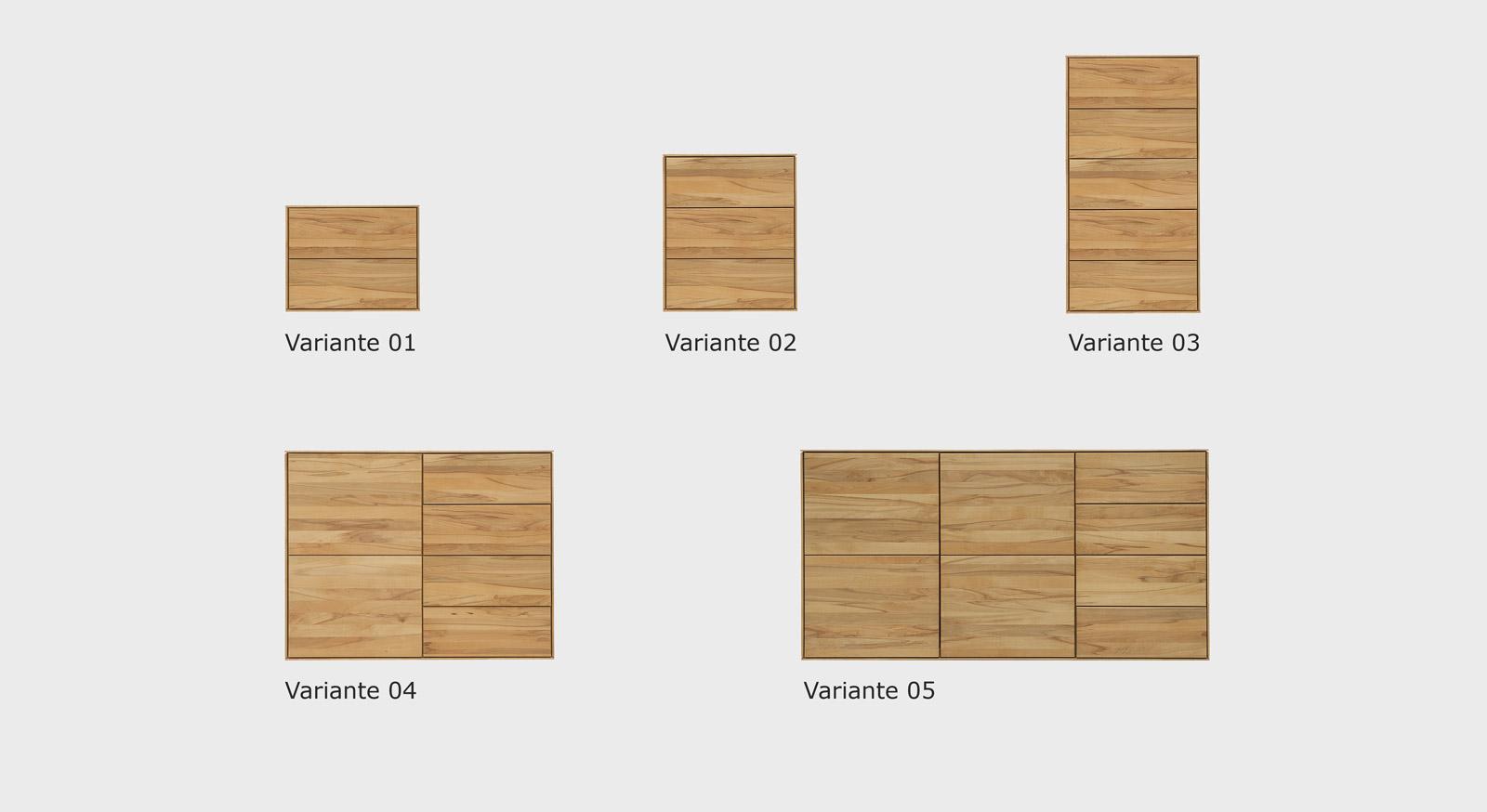 Kommode Aquila in fünf Varianten
