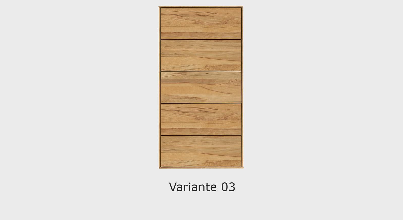 Massivholz-Kommode Aquila in der Variante 03