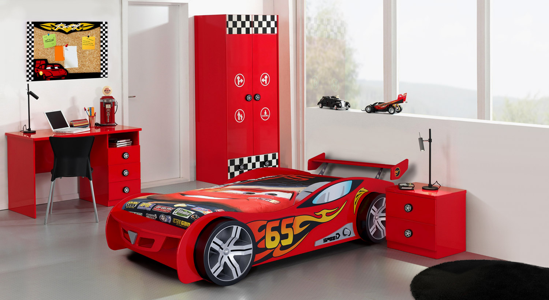 Hochwertiges Komplett-Kinderzimmer Tuning in Rot