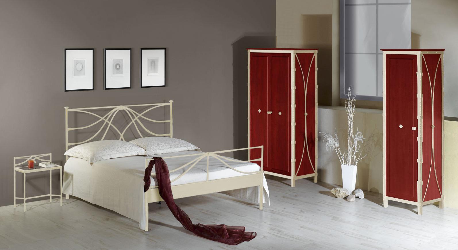 Komplett-Schlafzimmer Arica aus Metall
