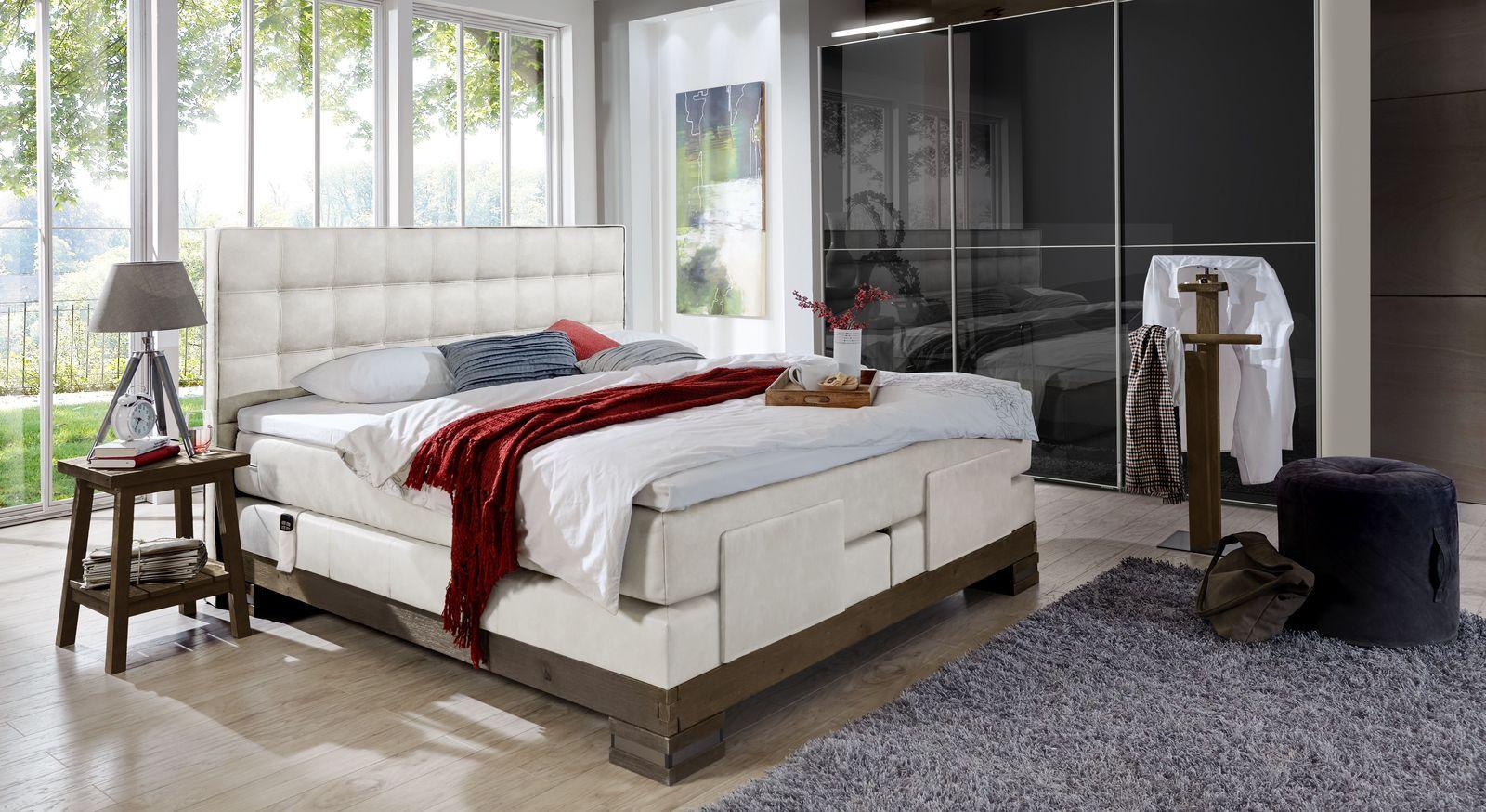Komplett-Schlafzimmer Cueno mit Kleiderschrank Madison