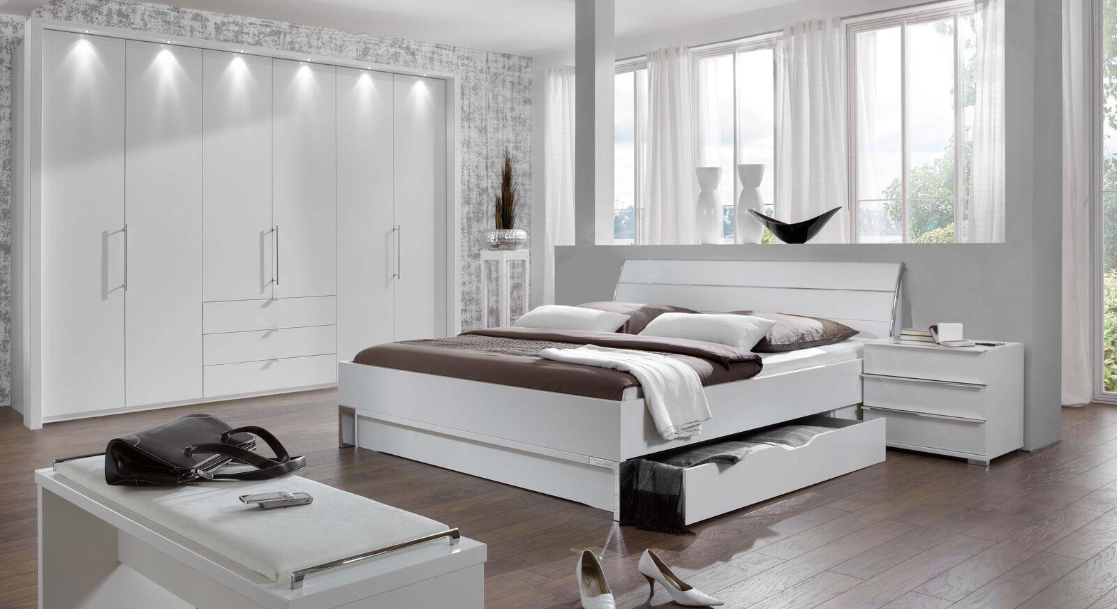 Komplett-Schlafzimmer Salford im Landhausstil in Weiß