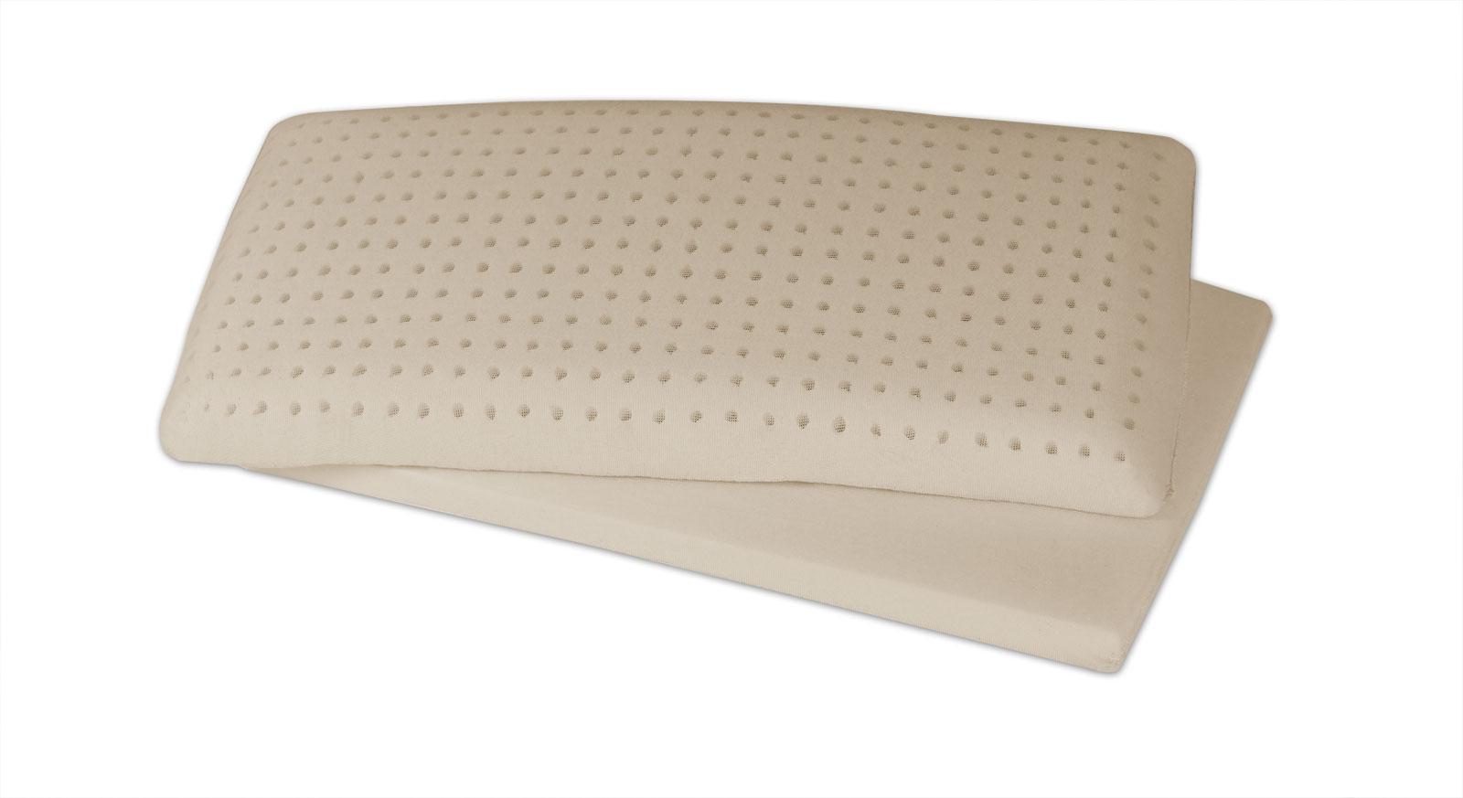 Latex-Nackenstützkissen youSleep mit elastischem Latexkern und Einlegeboden
