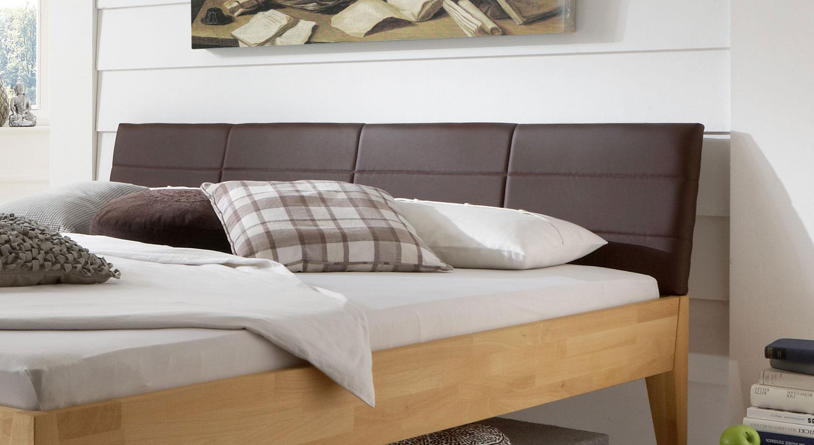 Kopfteil Für Betten holzbett aus massiver buche in z b 160x200 cm leonardo