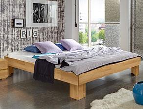elegante massivholzbetten in komforth he von. Black Bedroom Furniture Sets. Home Design Ideas