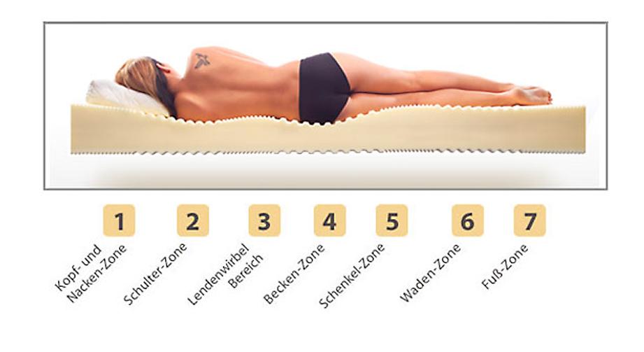 Matratze Lineavita Basic Kaltschaum Komfortzonen