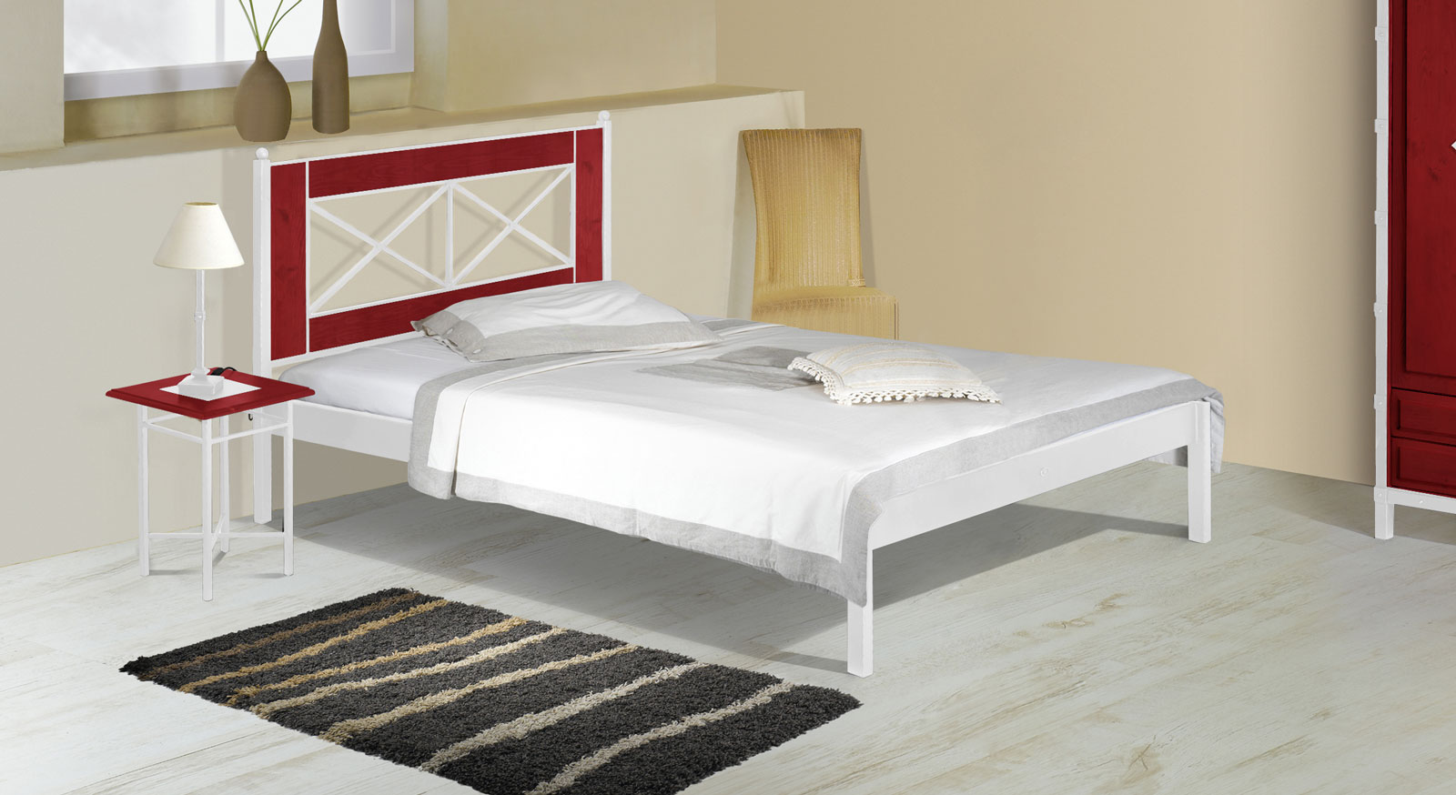 metallbett wei 160x200 preisvergleich die besten angebote online kaufen. Black Bedroom Furniture Sets. Home Design Ideas