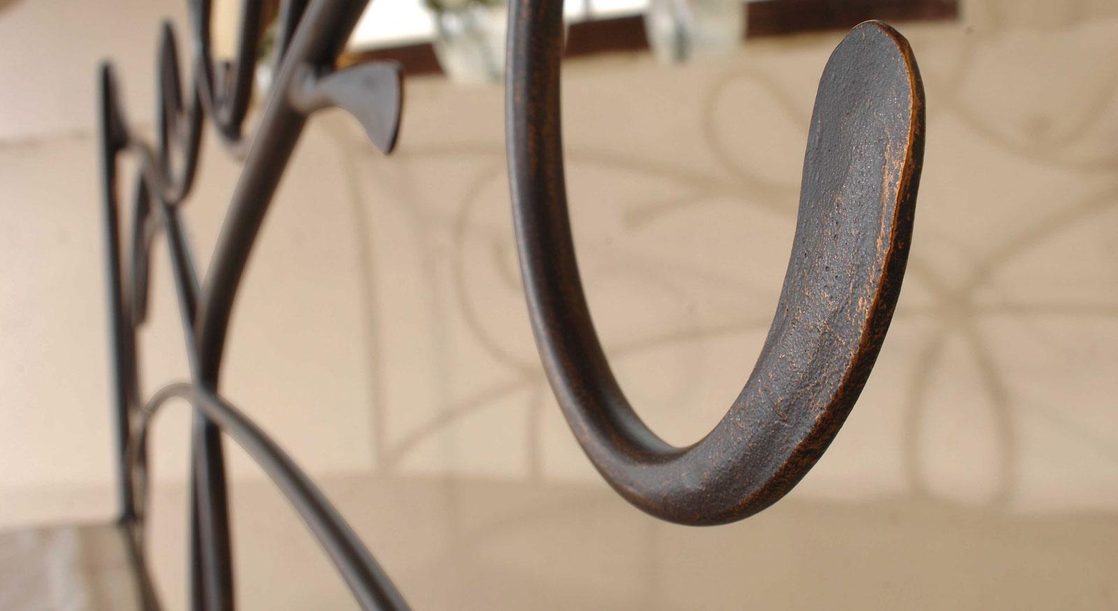 Romantisches Metallbett Porco aus Eisen