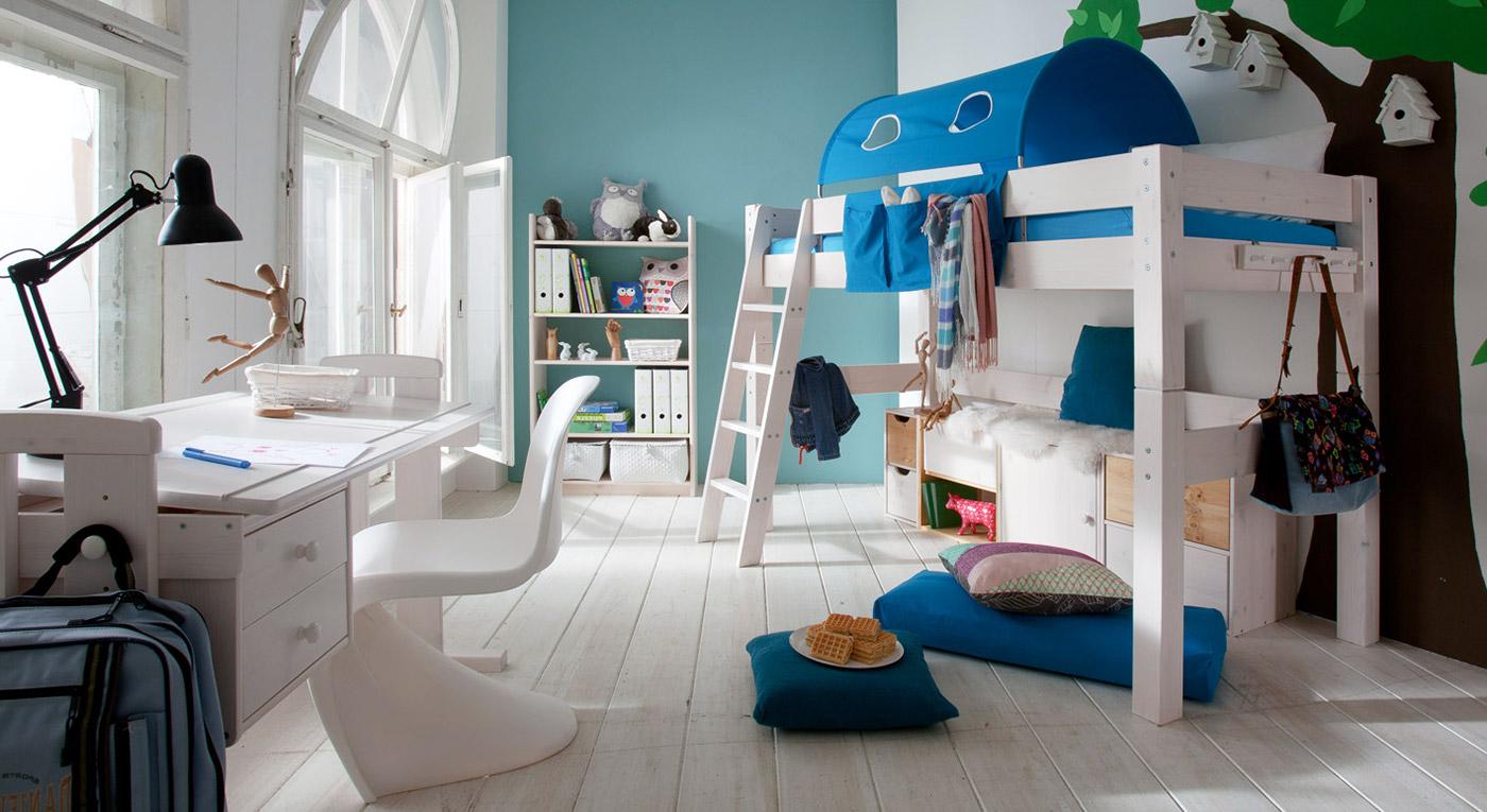 Midi-Hochbett Kids-Dreams in Weiß mit passenden Produkten
