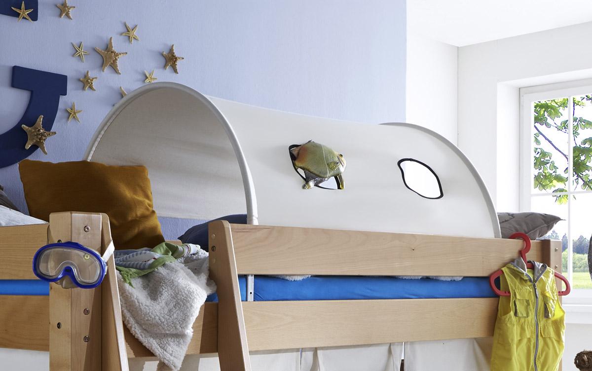 Mini-Hochbett Kids Fantasy mit optionalem Spieltunnel