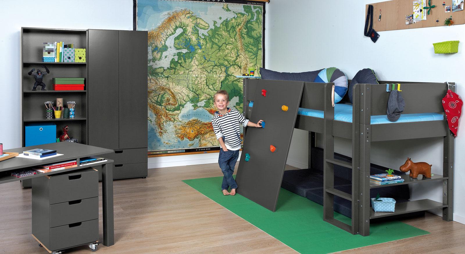 Abenteuer-Kinderzimmer mit Hochbett & Kletterwand - Kids Town