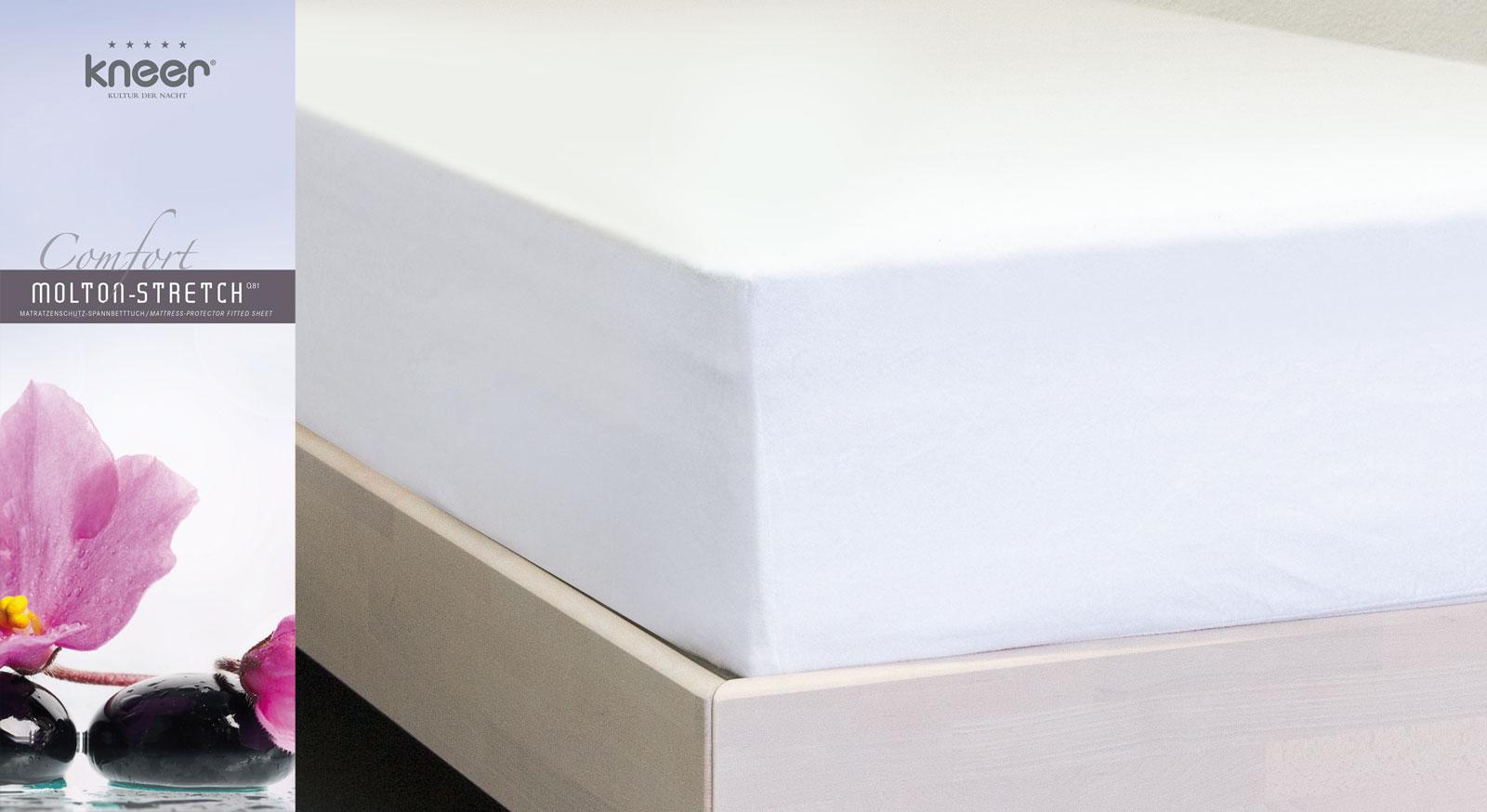 Molton-Stretch-Spannbetttuch Comfort mit Rundum-Gummizug