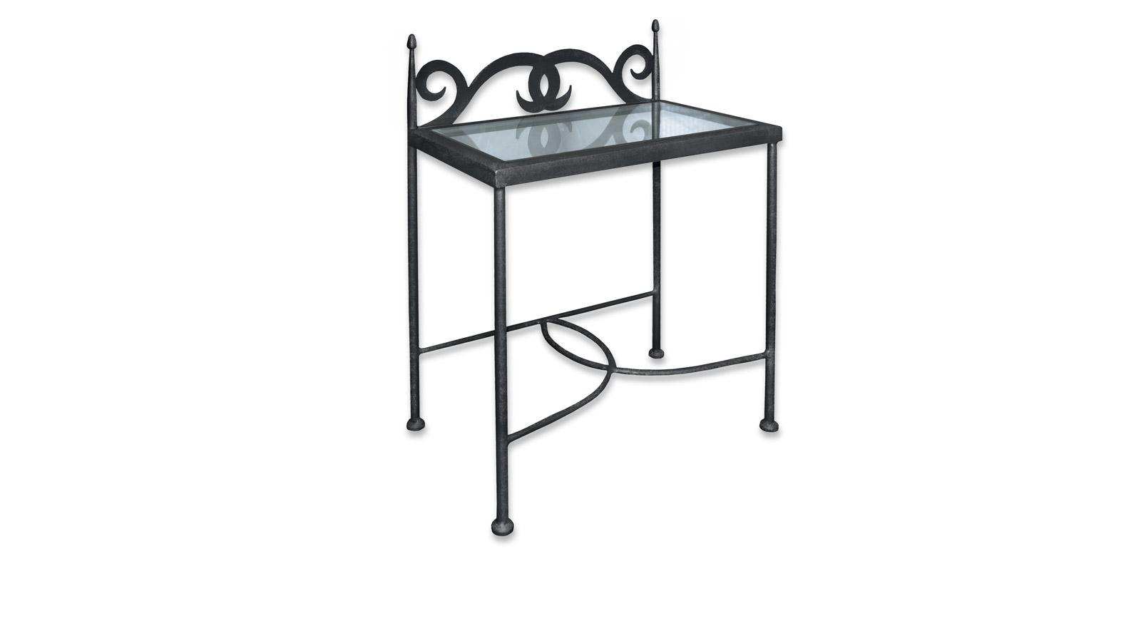 Nachttisch Temco aus Eisen im nostalgischen Design
