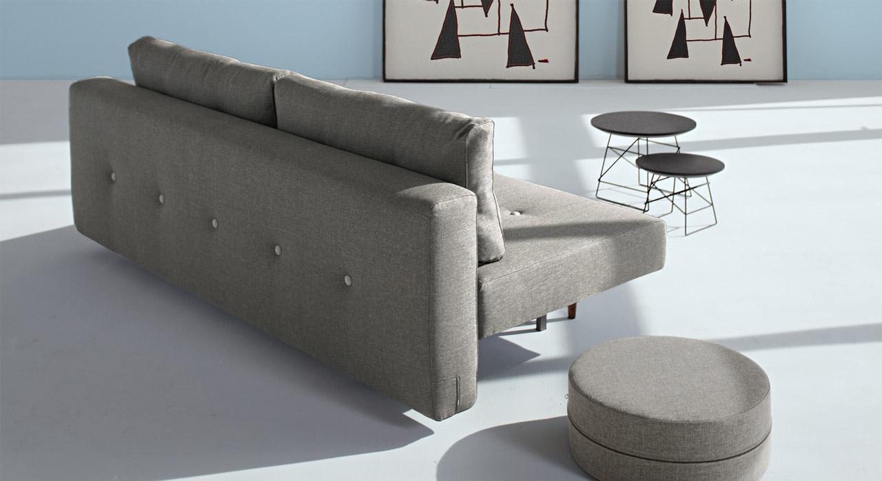 Tolles Design-Schlafsofa Barnes mit bequemem Stoff