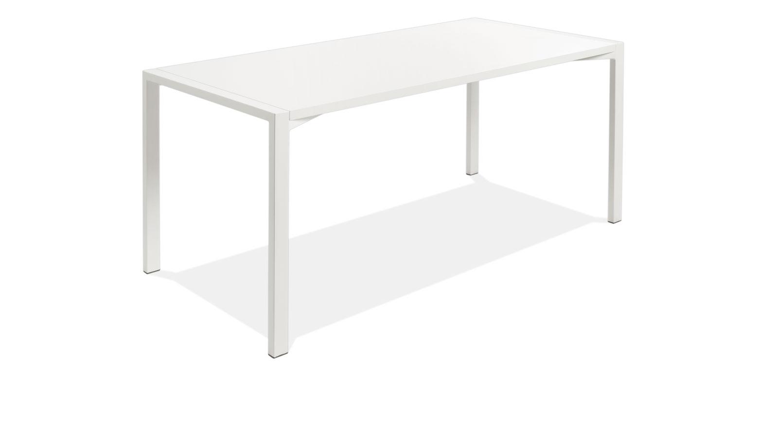Weißer Schreibtisch Felipe aus MDF und Stahl