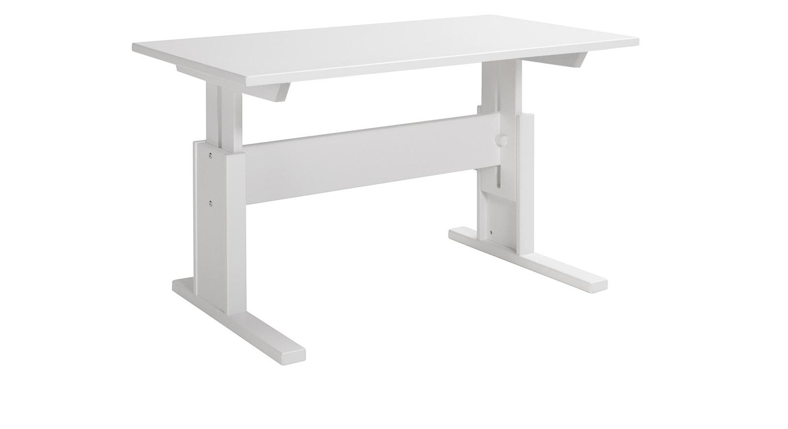 Weiß lackierter Schreibtisch 120cm breit