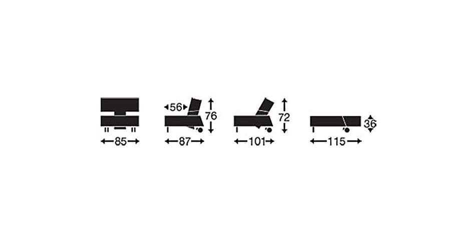 Grafik von Sessel Ross