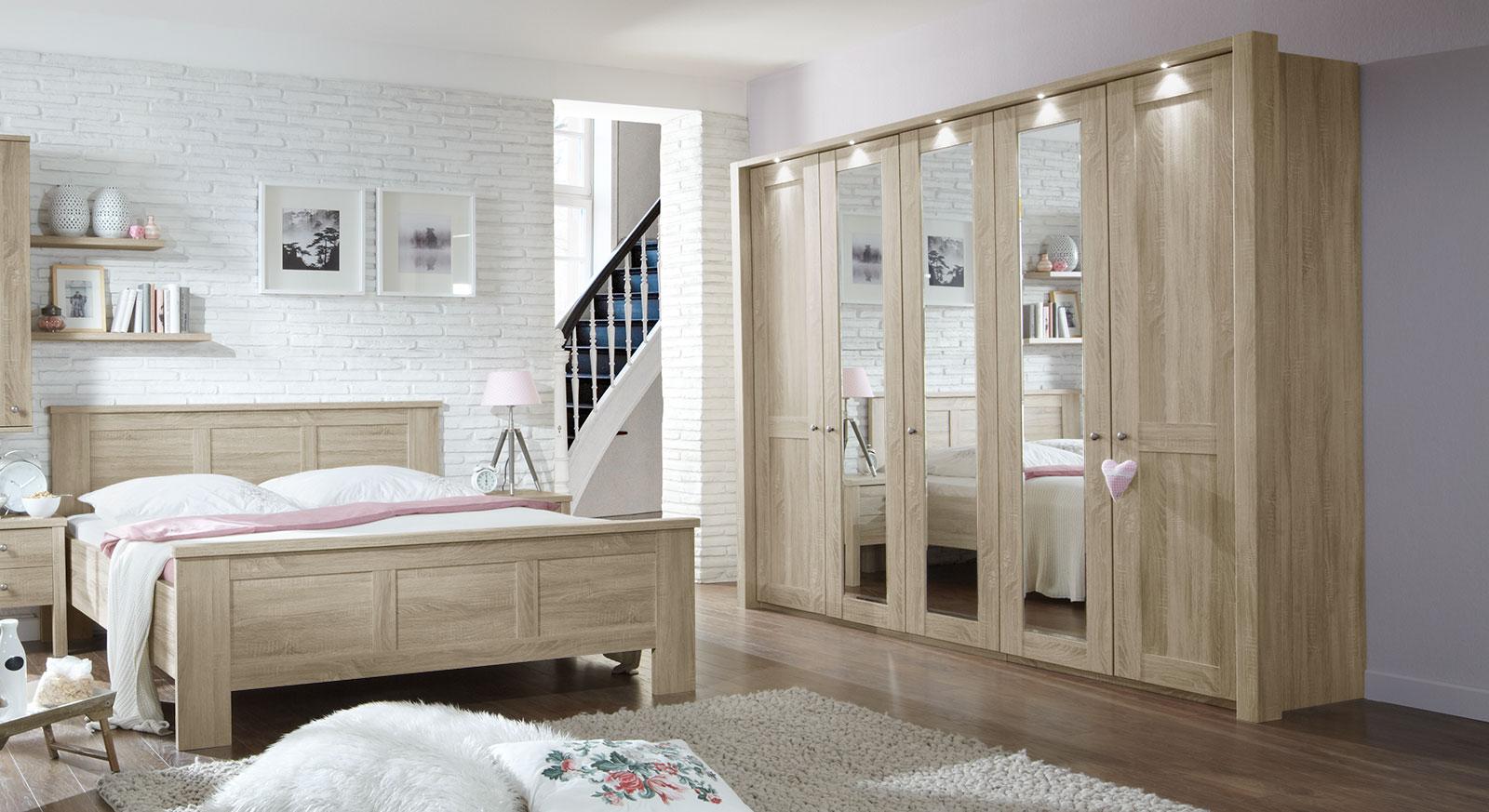 Spiegeldrehtüren-Kleiderschrank Farim mit optionaler Beleuchtung