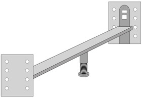 Verbindungsbeschlag Runcorn für Einzelbett zum Doppelbett