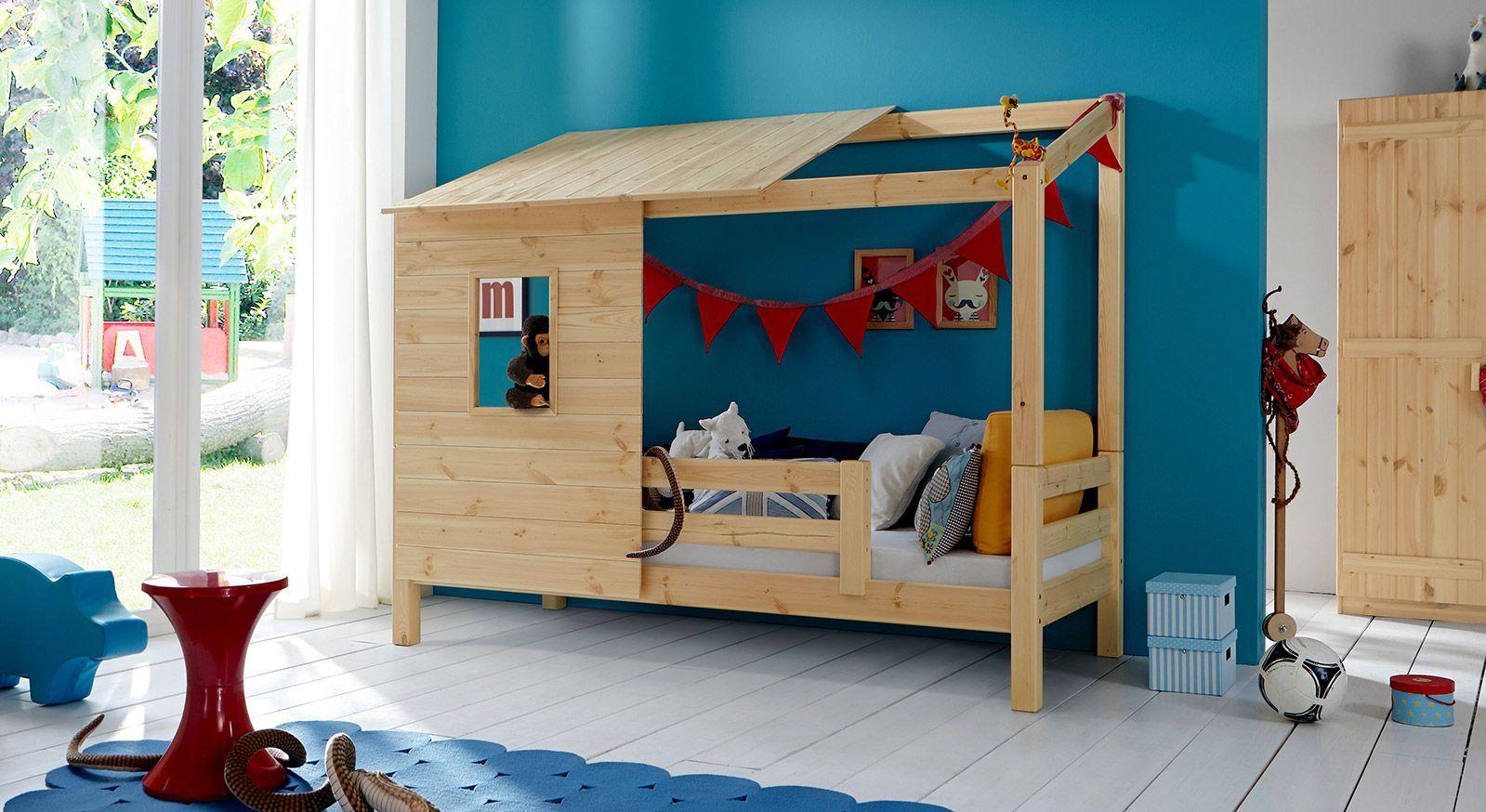 Abenteuerbett Kids Paradise aus Massivholz, Natur lackiert
